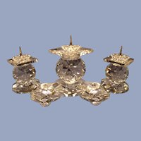 Swarovski 5 Diamond Triple Candelabra