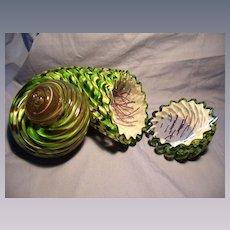 Two Piece Art Glass Sculpture- Sea Crearture