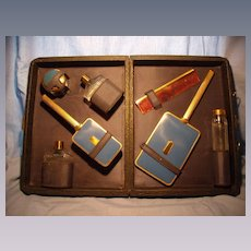 Dresser Set In Fitted Travel Case