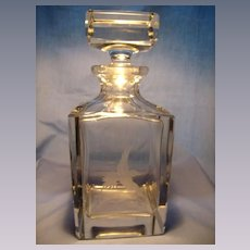 Beveled, Squared Cut Crystal Decanter