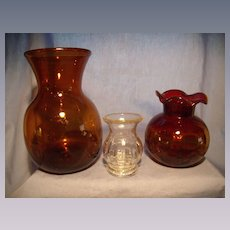 Three Clevenger Blown Vases