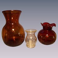 Three Clevenger Blown Vases
