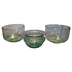 Three Clevenger Finger Bowls