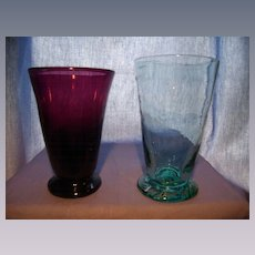 Pair 1930's Clevenger Tumblers