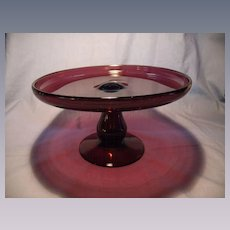 Clevenger Blown Cake Stand
