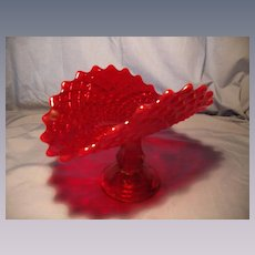 Westmoreland Ruby Glass Banana Stand
