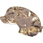 Goebel Crystal Pig Figurine