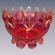 Antique English Cranberry Art Glass Bowl