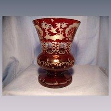 Classic Engermann Deer and Castle Vase