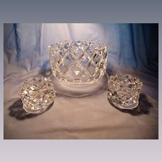 3 Pc Orrefors Sofiero Center Bowl Set
