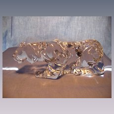Baccarat Crouching Tiger Figurine