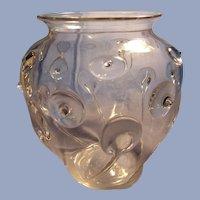 Vintage  Art Glass Vase with Prunts