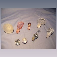 Eight Perfume Bottle Stoppers