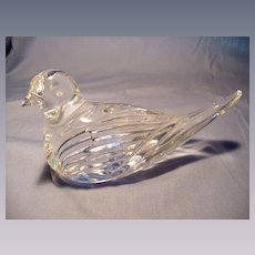 Waterford Crystal Bird Figurine