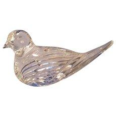 Waterford Crystal Bird Figurine