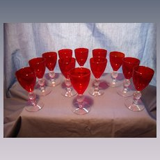 """Set of 12 """"Golf Ball"""" Small Wines"""