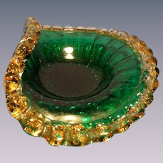 Crimped Flared Vintage Murano Bowl