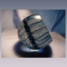 Smyers Signed & Numbered Spider Web Paperweight