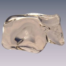 Steuben Crystal Ox Figurine