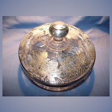 Sterling Overlay Lidded Candy Dish