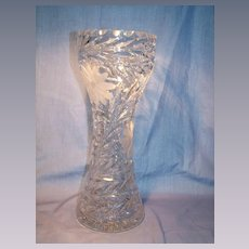 Tall Brilliant Cut Corset Vase