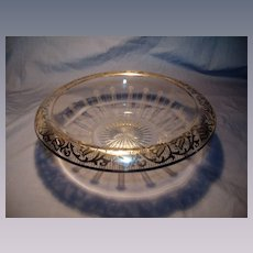 1926 Deco Sterling Overlay Center  Bowl