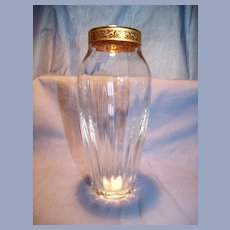Lenox Crystal Vase With Gold Trim