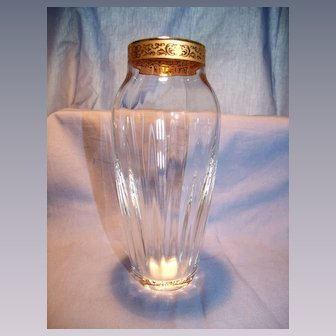 Lenox Crystal Vase With Gold Trim