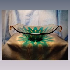"Fostoria ""Hawaiian"" Two Handled Bowl"