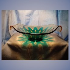 """Fostoria """"Hawaiian"""" Two Handled Bowl"""