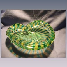Mid Century Murano Striped Bowl