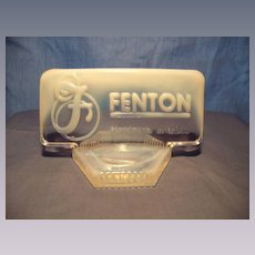 Fenton  Glass Logo Store Sign