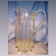 "Tall ""Portland"" Pattern Glass Pitcher"