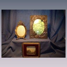 Three Vintage Frames Brass/Copper