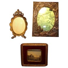 Three Vintage Frames Brass/Copper