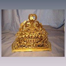 Brass Double Letter Holder