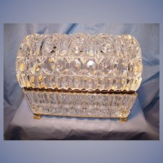 Vintage Crystal Domed Box