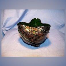 Adventurine Art Glass Bowl