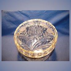 """Round """"Tulip"""" Hinged Glass Box"""