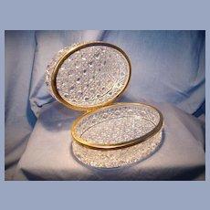 Vintage oval crystal box