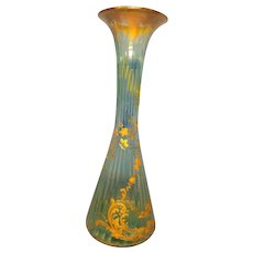 "12"" Tall Decorated Moser Vase"