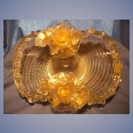 Murano Barovier Golden Roses Bowl