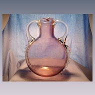 Handled Art Glass Jug