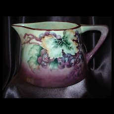 Bavaria Grape Cider Pitcher with Opalescent Interior