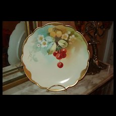Lovely Pickard Plate with Cherries Signed Challinor