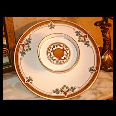 Pickard Art Nouveau Attached Serving Tray and Compote