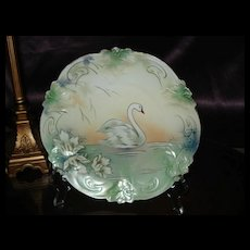 Prussia Red Mark Plate with Stylized Swan