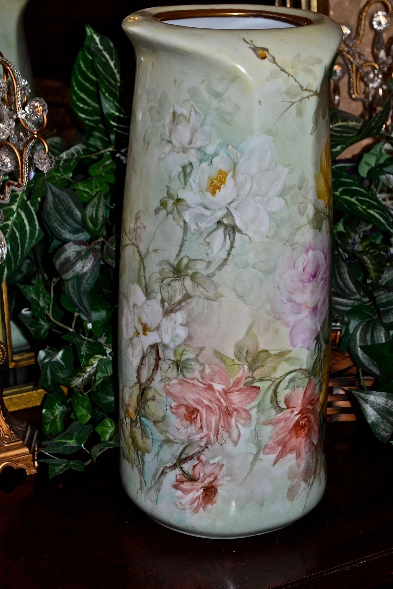 Limoges Large Porcelain Floor Vase With Gorgeous White