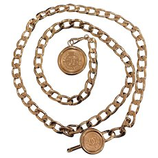 Authentic Chanel Vintage Chain Belt-Gold plated