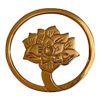 Vintage Judith Leiber Gold Plated and Rose Quartz Bookmark